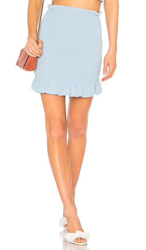 Lovers + Friends Monaco Skirt in Baby Blue