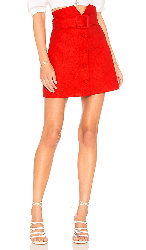 Lovers + Friends Hayes Skirt in Red