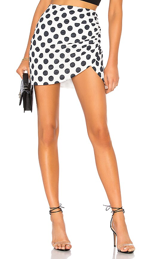 Lovers + Friends Paris Skirt in Black & White