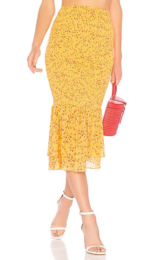 Lovers + Friends Abloom Skirt in Orange