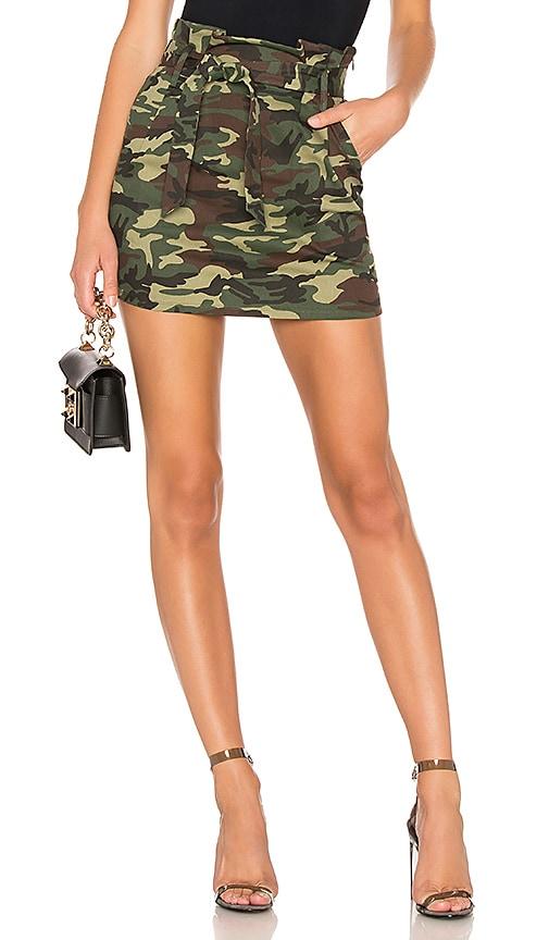 Camo mini skirt