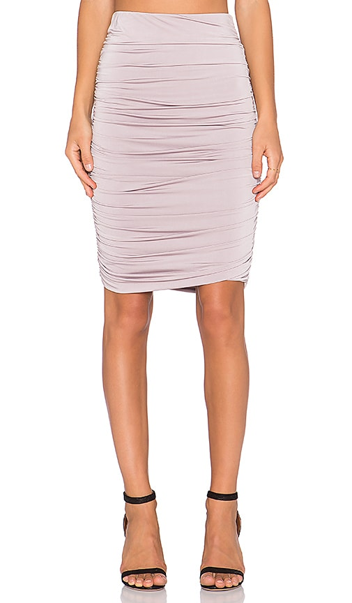 x REVOLVE Gathered Midi Skirt