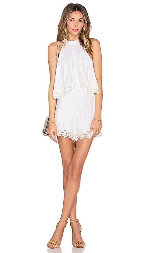 Lovers + Friends Nicki Romper in White