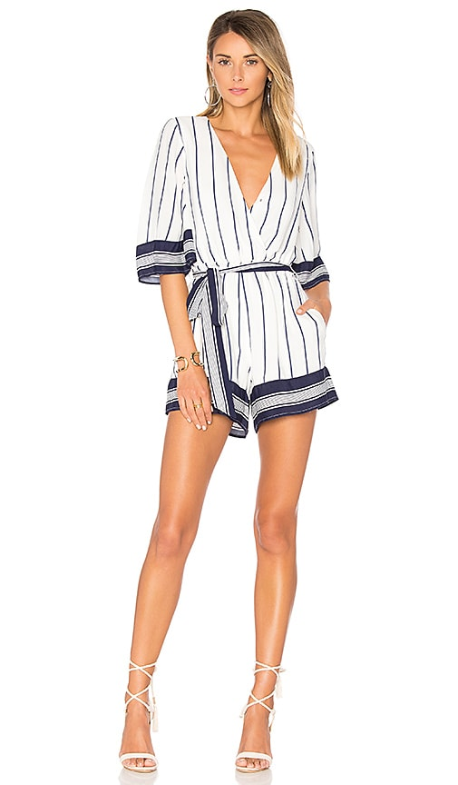 Lovers + Friends Isabelle Romper in White