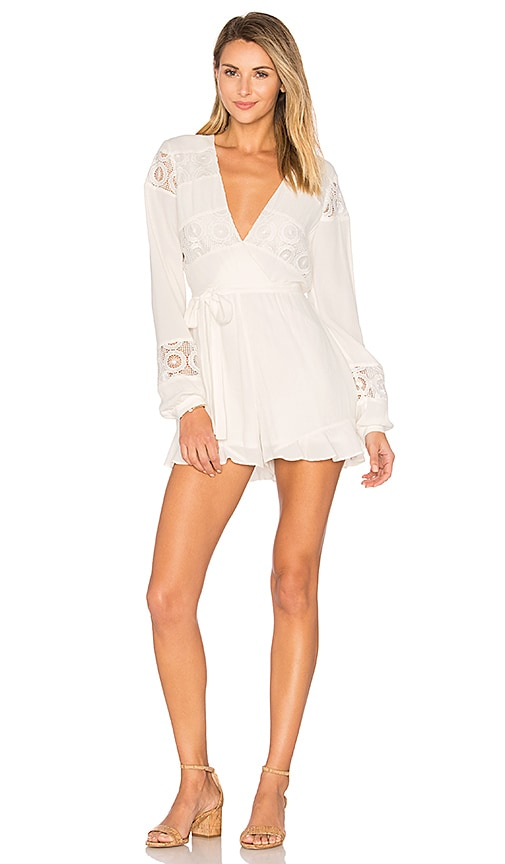 Lovers + Friends Jesse Romper in White
