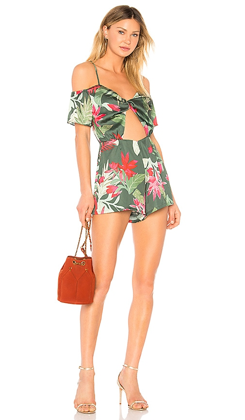 Lovers + Friends Kelly Romper in Green