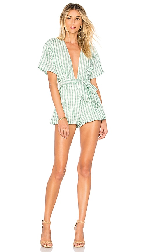 Lovers + Friends Simon Romper in Green
