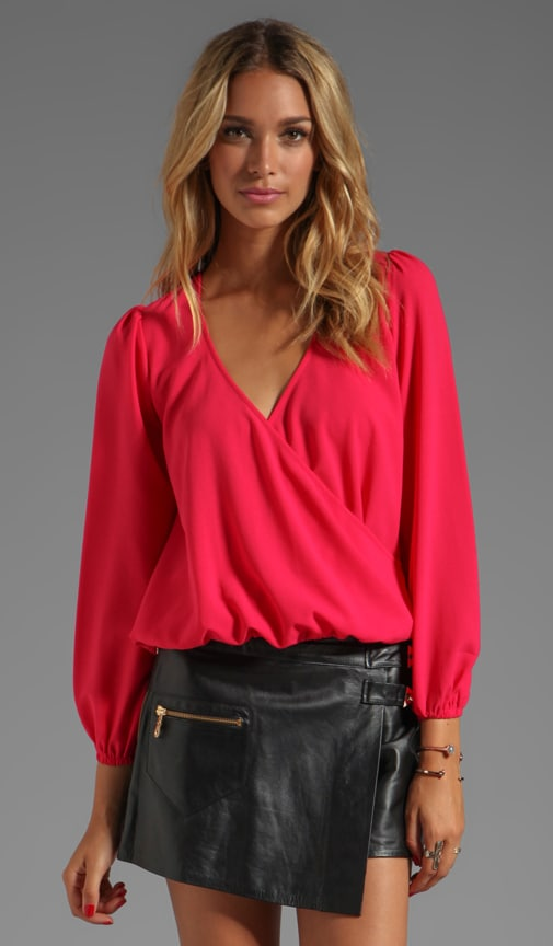 Lovely Long Sleeve Drape Top