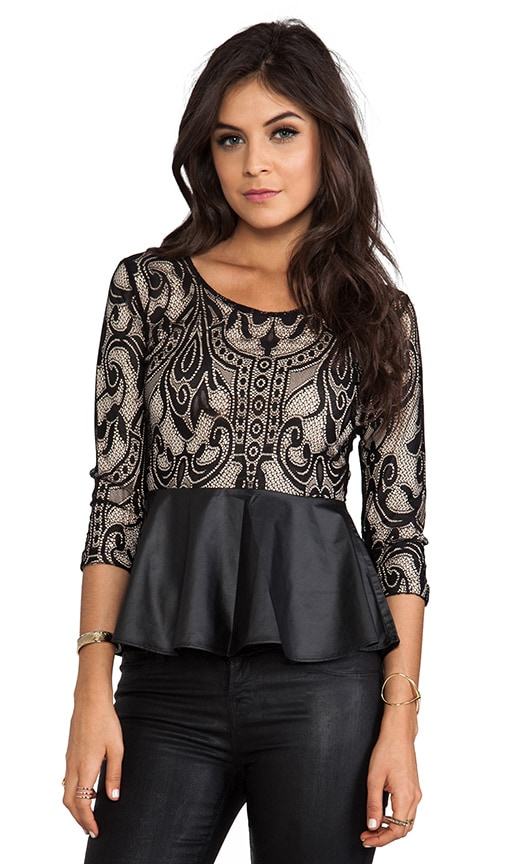 Soiree Peplum Top