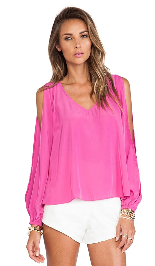 Lovers + Friends Daydream Blouse in Peony Pink
