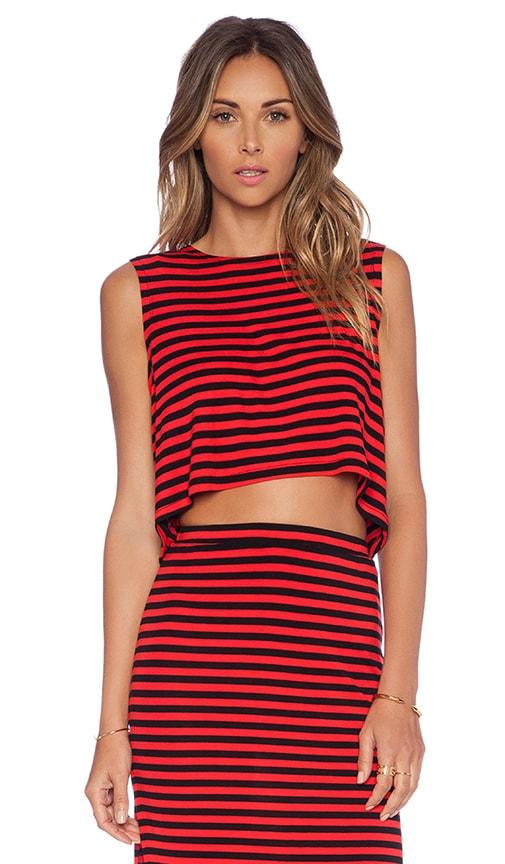 Lovers + Friends Ludi Crop Top in Red Stripe