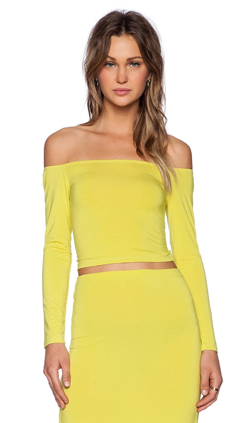 Lovers + Friends Megan Top in Chartreuse