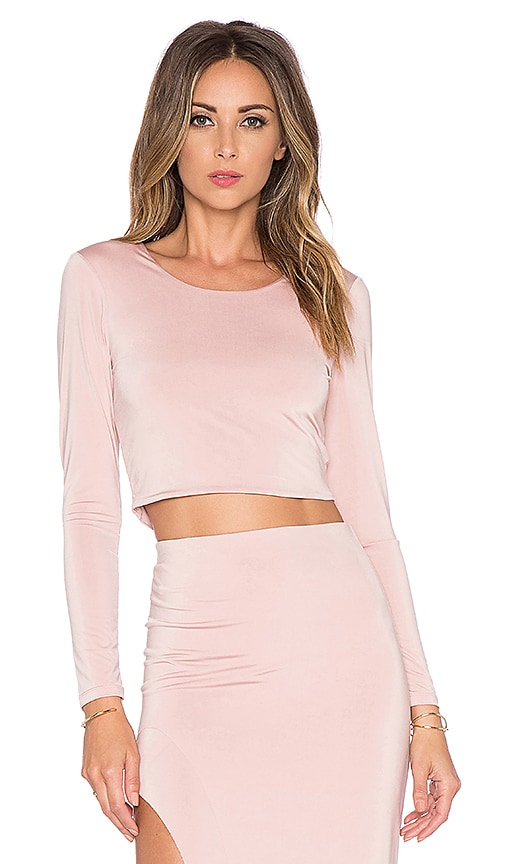 Lovers + Friends x REVOLVE Say It Isn't So Crop Top in Mauve