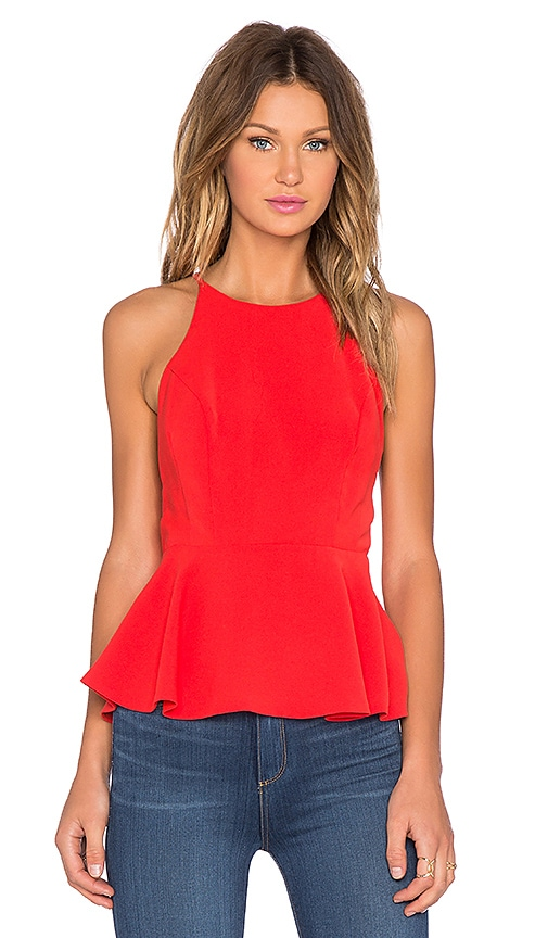 Lovers + Friends x REVOLVE Bahama Peplum Tank Top in Coral