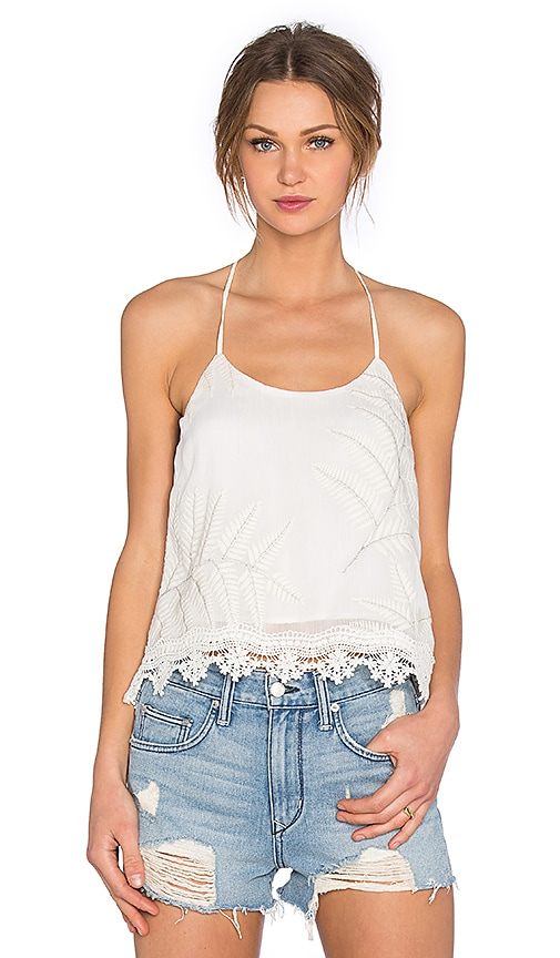 Lovers + Friends Baciami Top in White