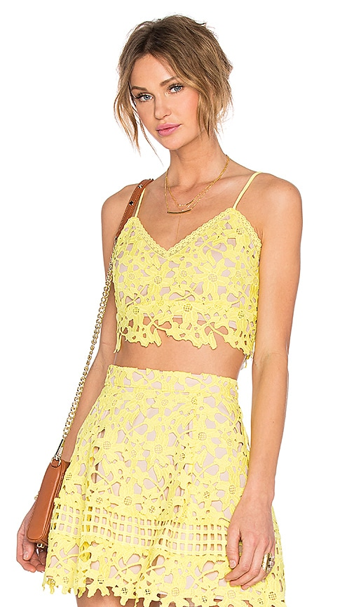 Lovers + Friends Coastline Top in Yellow