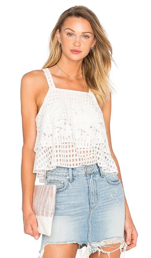 Lovers + Friends Nadia Top in White