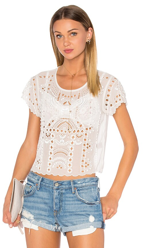 Lovers + Friends Weekender Top in White