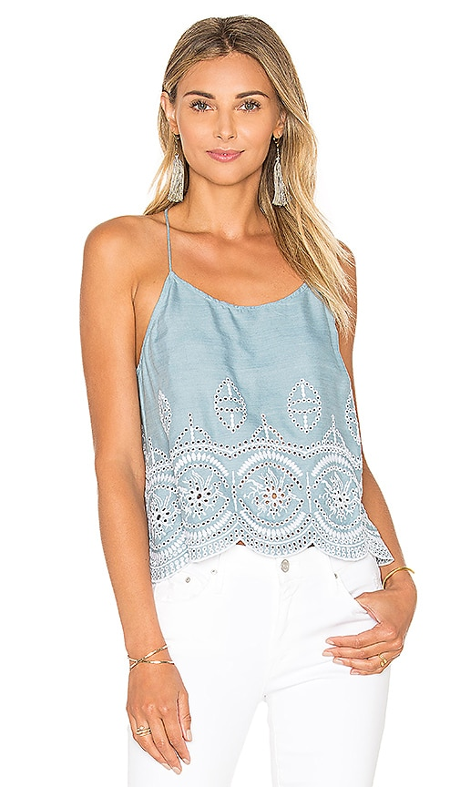 Lovers + Friends Baciami Top in Blue