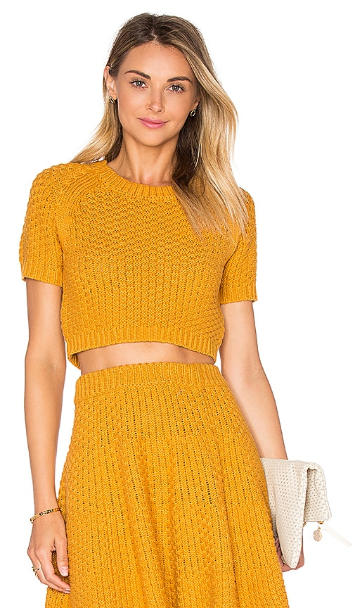 Lovers + Friends Be Flirty Crop Top in Yellow