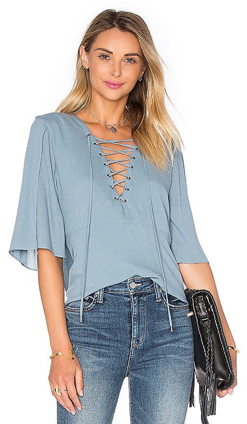 Lovers + Friends Boulevard Top in Blue