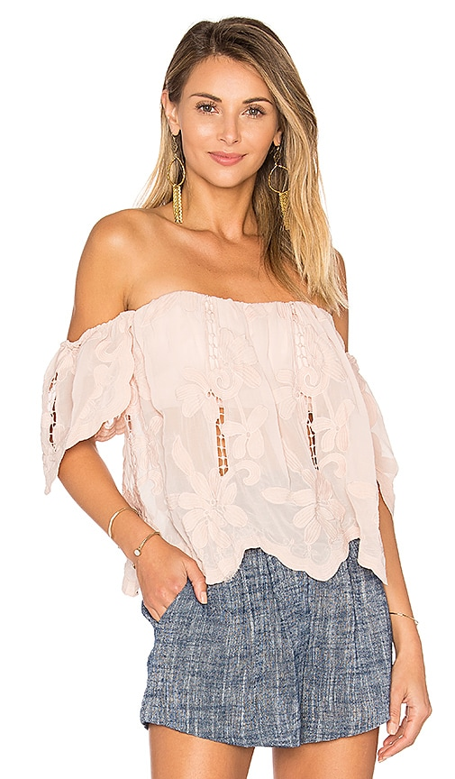 Lovers + Friends Life's A Beach Top in Blush