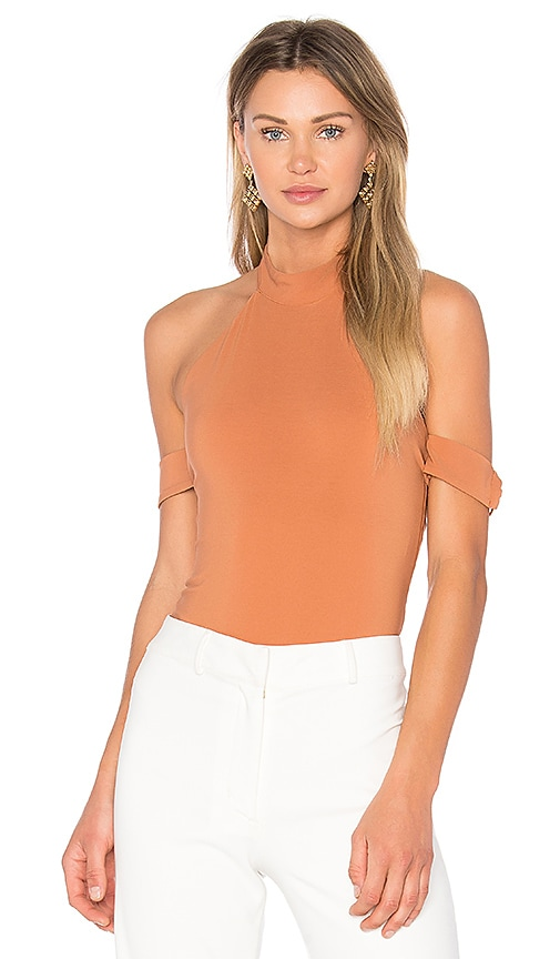 Lovers + Friends x REVOLVE Ring Leader Bodysuit in Brown