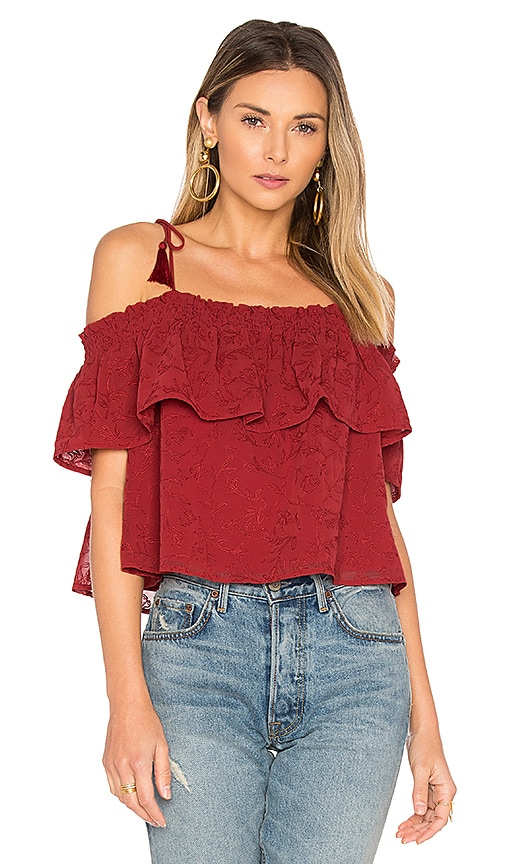Lovers + Friends Blossom Top in Red