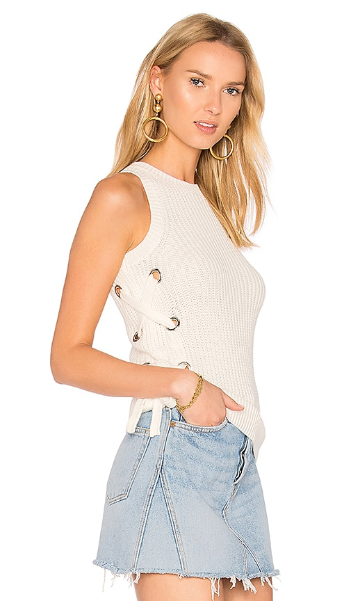 Lovers + Friends Electric Avenue Sweater in White