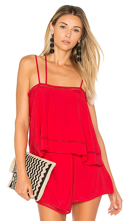 Lovers + Friends Summer Glow Top in Red