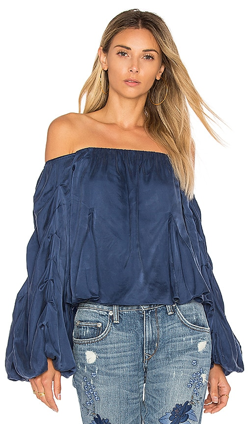 Lovers + Friends x REVOLVE Laura Blouse in Blue