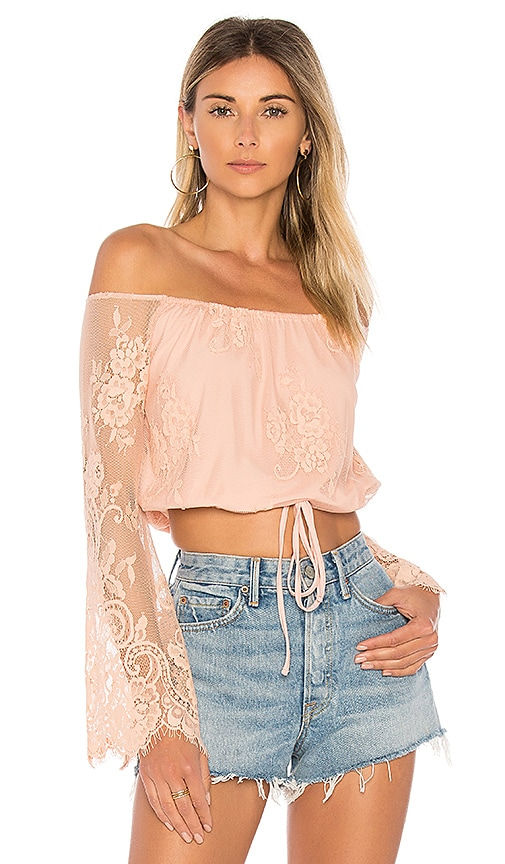 Lovers + Friends Lady Love Top in Blush