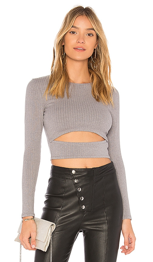 Lovers + Friends Clea Top in Gray