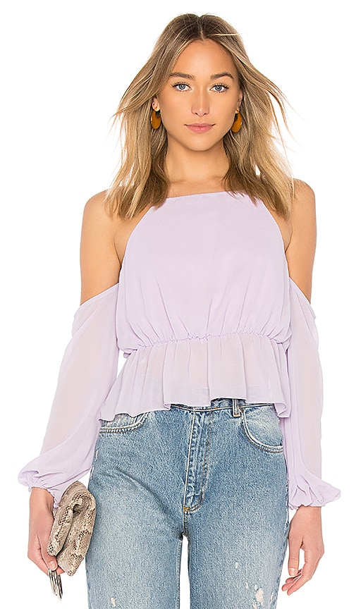 Lovers + Friends Bebe Blouse in Lavender