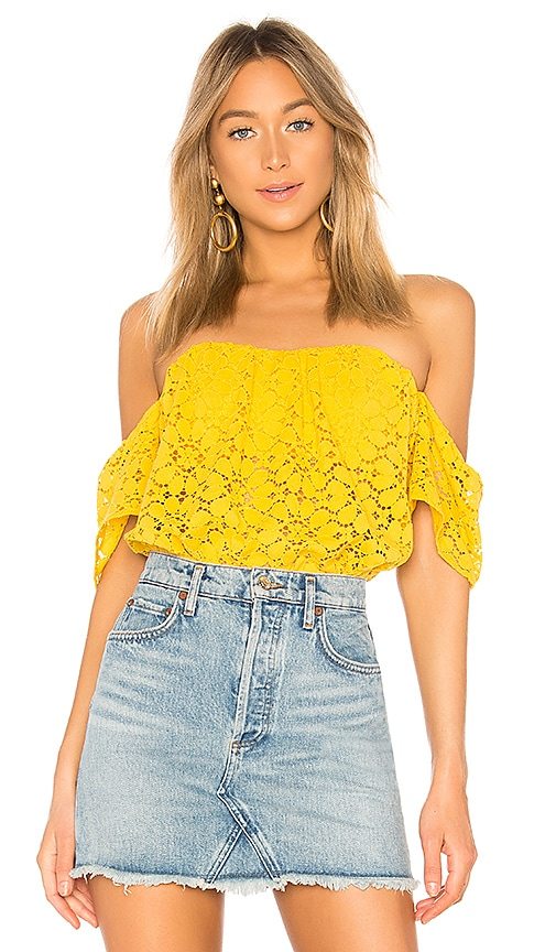 Lovers + Friends Life's A Beach Top in Yellow