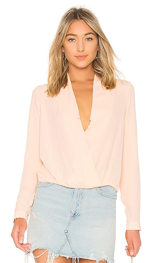 Lovers + Friends Get Down Blouse in Peach