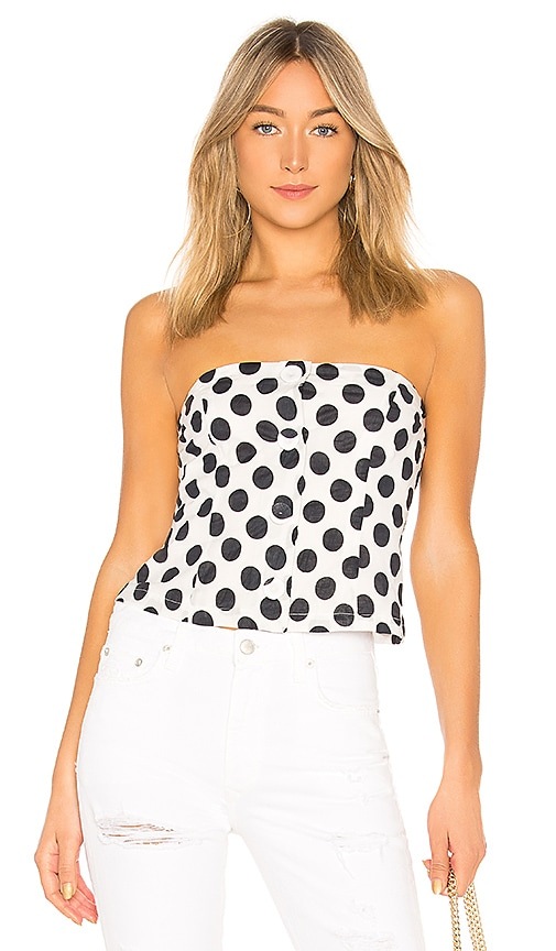 Lovers + Friends Libby Top in Black & White