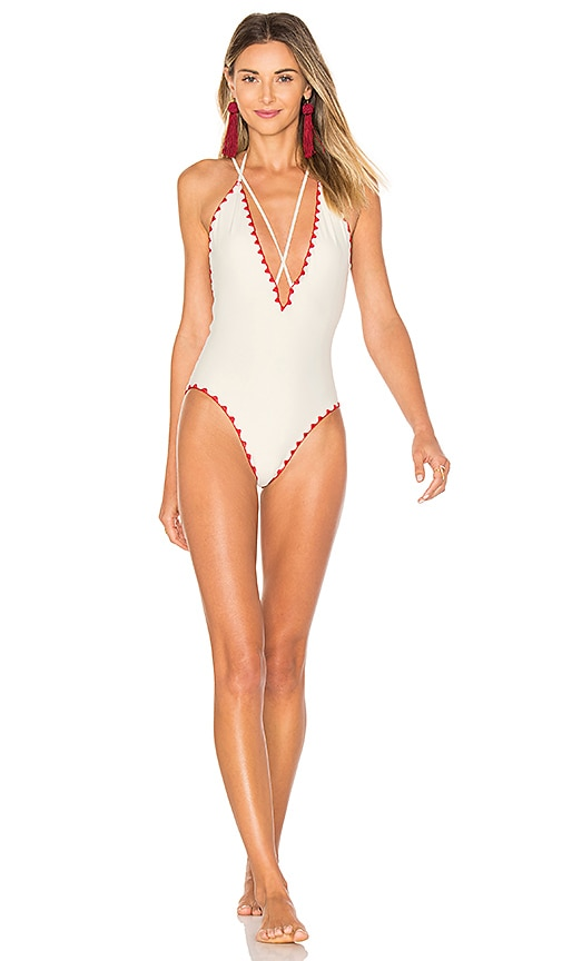 1a86ed0abf548 Lovers + Friends Adrift Swimsuit in Ivory