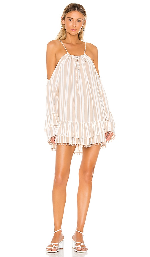 Lovers + Friends x REVOLVE Tropical Oasis Dress in Beige