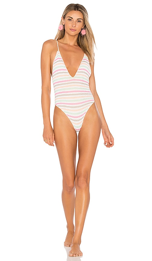 Lovers + Friends Sundeck One Piece in White