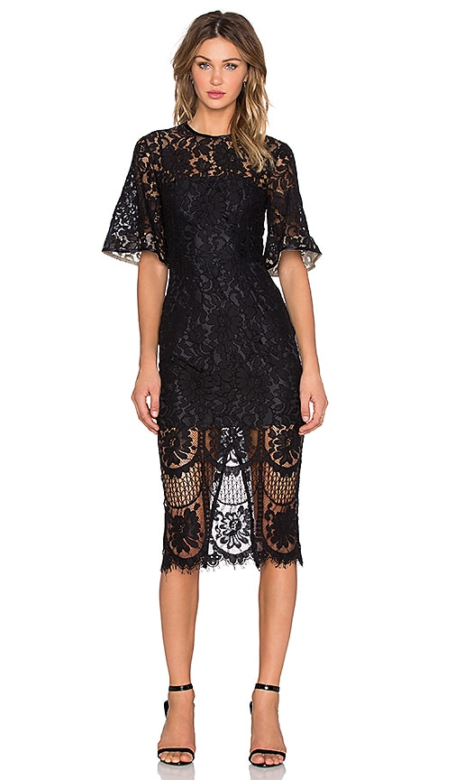 Halo Lace Midi Dress