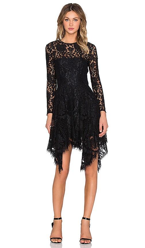Lover Halo Hanky Mini Dress in Black