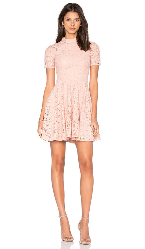 Lover Oasis Fit and Flare Mini Dress in Blush