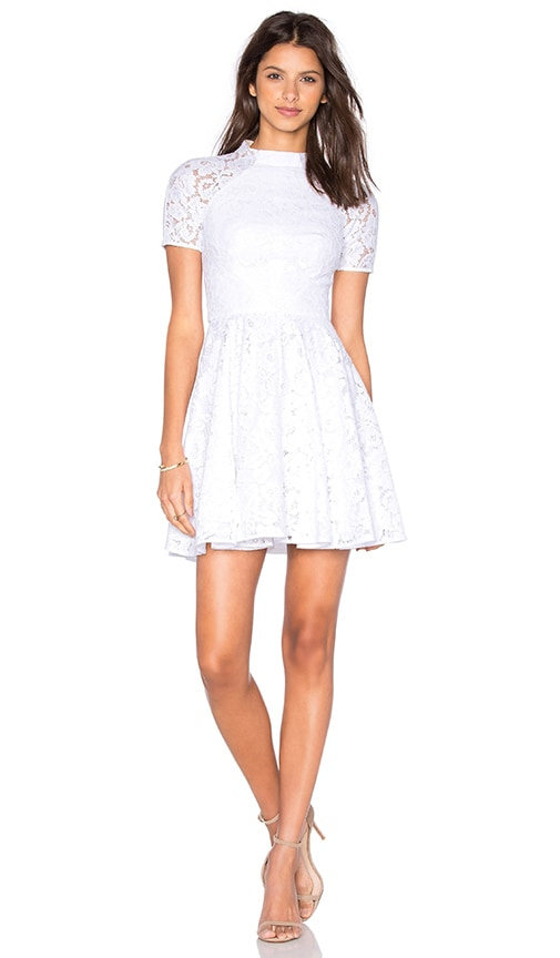 Lover Oasis Fit and Flare Mini Dress in White