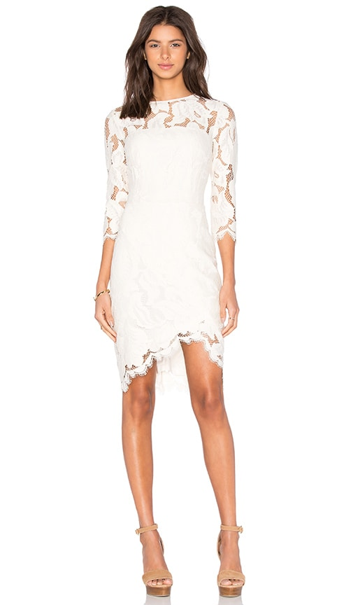 Lover Arizona Asymmetric Dress in Ivory