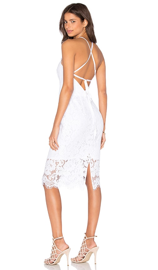 Lover Oasis Halter Dress in White