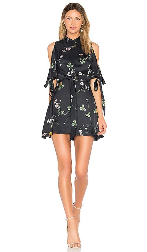 Lover Elderflower Mini Dress in Black