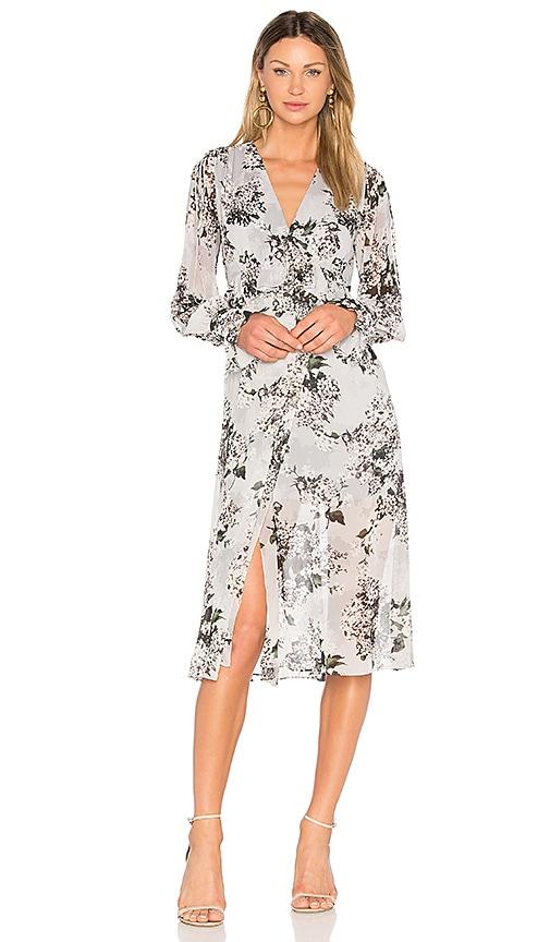 Lover Wrap Dress in Slate