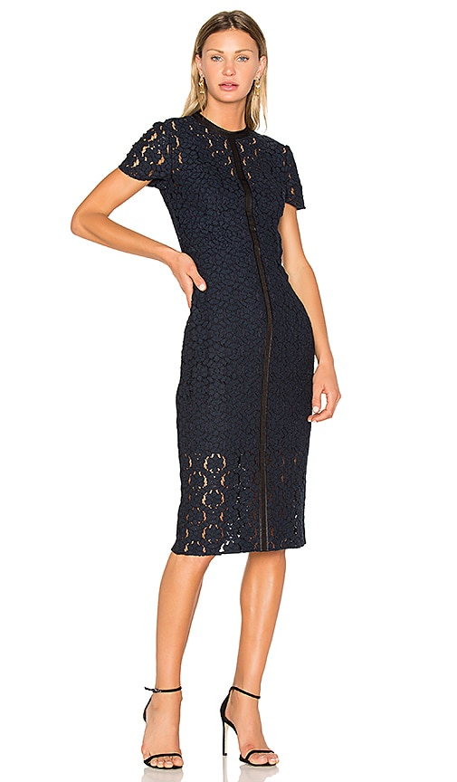 Lover Charlotte Sheath Dress in Navy