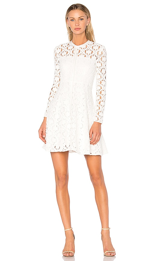 Lover Charlotte Fit & Flare Dress in White